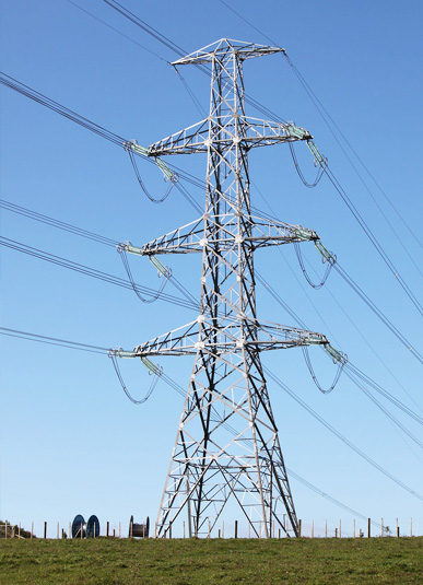 angel electric transmission line tower