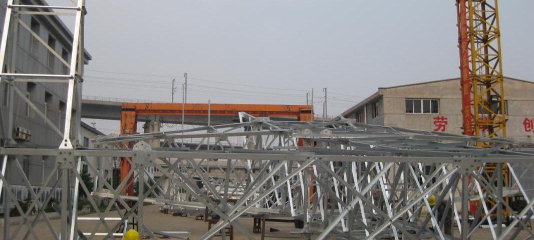 Galvanizing steel tower