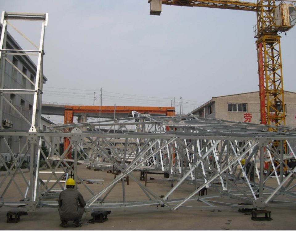 Galvanizing steel tower
