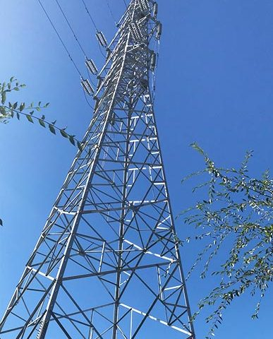 Transmission Angle Steel Tower with Single Circuit