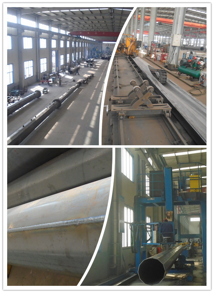 110 Kv Steel Pipe Power Transmission Polo lineare