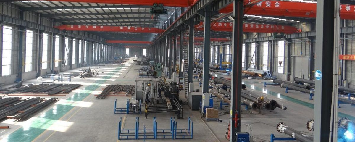 galvanized Electric power 220kv transmission line Angle Tower Manufacturing Workshop