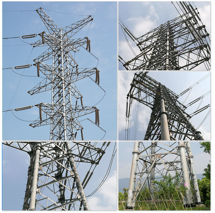 Electric Transmission Line Steel Tube Tower Power Transmission Tower