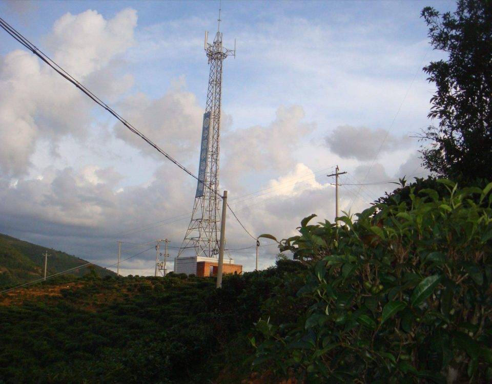 galvanized steel telecommunication tower