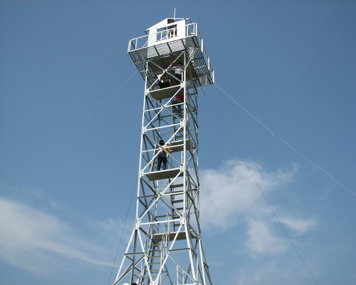 Galvanizing tubular angle steel Fire training 30m observation tower