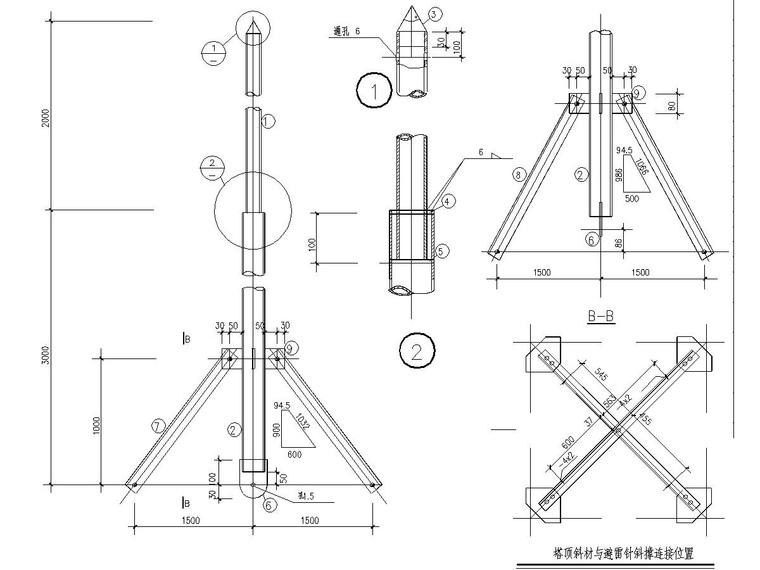 15 meter observation tower steel structure_2