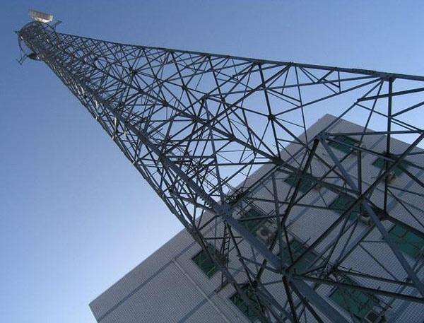 Mobile Mikrowelle Stahlturm